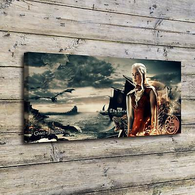 "Daenerys Targaryen Painting Canvas Print 24""x56""Home Decor Room Wall Art Picture"