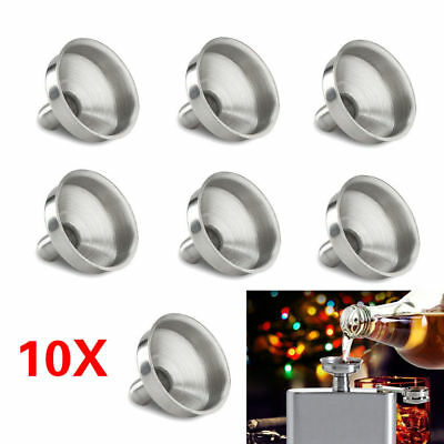 1~100X Portable Stainless Steel Mini Funnel For Essential Oil Bottle / Flasks WQ