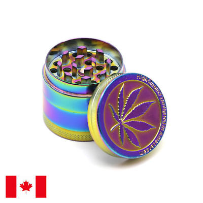 Designed Rainbow Zinc Alloy 4 Piece 50mm Grinder w/ Scraper