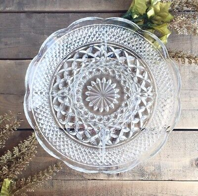 """Wexford 11"""" Divided Relish Tray Serving Plate Platter Anchor Hocking Vintage"""