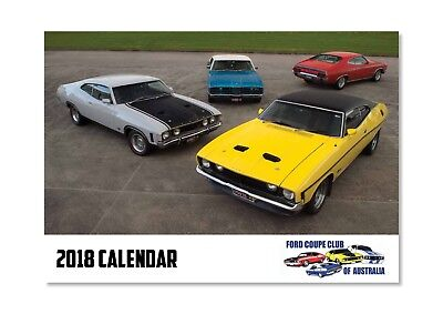 Ford Coupe 2018 12 month Calendar