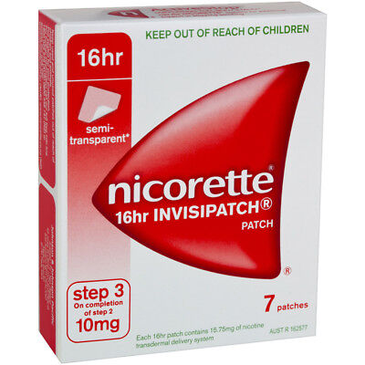 Nicorette 16hr Invisipatch Step 3 10mg 7 Patches