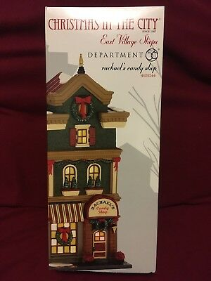Dept 56 CIC East Village ~RACHAEL'S CANDY SHOP~ Retired in 2013, NEW +FREE Ship!