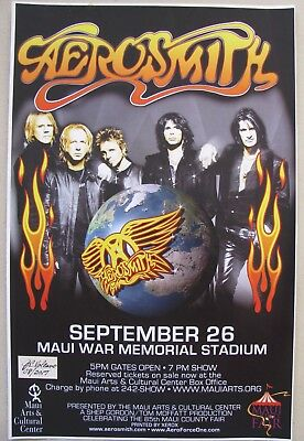 Aerosmith Concert Poster for Maui Concert That Was Cancelled-September 26, 2007