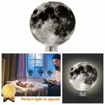 Bed Desk Table Lamp Realistic 3D Moonlamp Reading Bedroom Hallway Night Light US