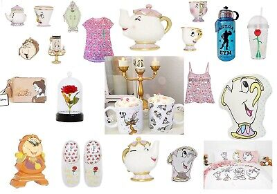Primark BEAUTY AND THE BEAST MRS POTTS TEAPOT CHIP CUP BED PYJAMAS SET ROSE DOME