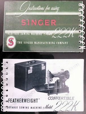 Singer Sewing Machine Featherweight 222K Instruction Manual/Book