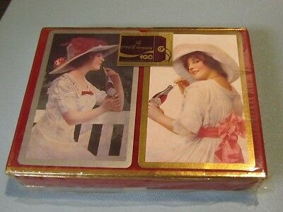 1986 Coca-Cola Company Centennial Celebration SEALED Playing Cards Double Deck