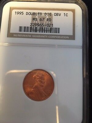 1995 1C Doubled Die Obverse RD Lincoln Cent MINT CONDITION.