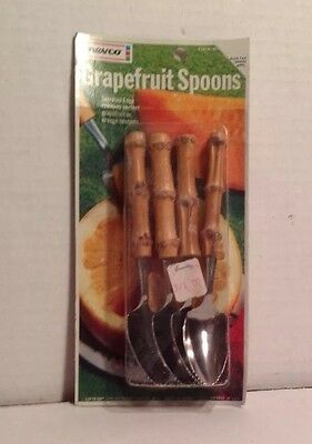 Vintage 1960s Nevco GRAPEFRUIT SPOONS  Mint On Card