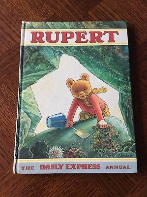 Vintage 1971 Rupert The Bear Daily Express Annual, Price Clipped, Named, VGC