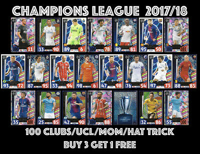 Match Attax Champions League 2017/18 100 Club Hat-Trick All Star Man Of Match
