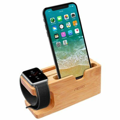 Apple Watch Stand, Aerb Bamboo Wood Charging Stand Bracket Docking Station