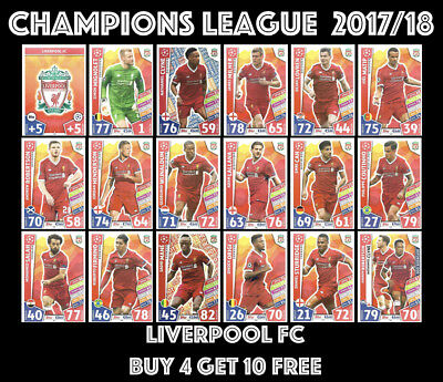 Liverpool Fc Match Attax Champions League 2017/18 17/18