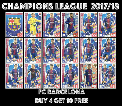 Fc Barcelona Match Attax Champions League 2017/18 17/18