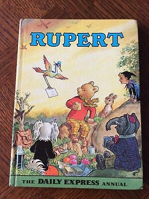 Vintage 1972 Rupert Bear Annual Daily Express, Unclipped, Not Named, VGC