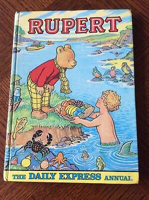 Vintage 1975 Rupert Bear Annual, Daily Express, Unclipped, Neatly Named, VGC