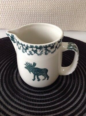 Tienshan MOOSE COUNTRY Folkcraft Creamer / Syrup Pitcher Green Sponge