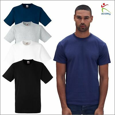 Fruit of the Loom Mens Heavy Cotton Tee Classic Fit T Rib Crew Neck T-Shirt TOP