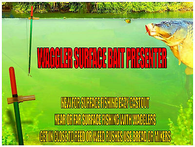 Fishtek Waggler Surface Controller Self Cocking Float [No Locking Shot Needed]