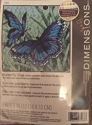 "Dimensions- Needlepoint Kit - "" Butterfly Duo"""