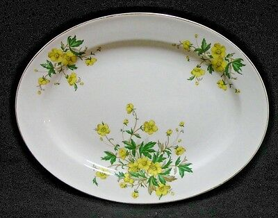 Semi Vitreous Serving Platter Yellow Floral Edwin Knowles China Co 4811 USA