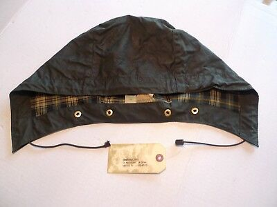 Barbour-   A128 Waxed Cotton Hood- Xl-Vintage-Made@  Uk-Just Re-Waxed By Barbour