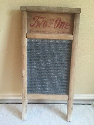 Two in One Jr. Washboard Vintage Antique Wood And Tin  Primitive
