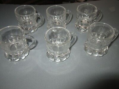 Miniature Root Beer Mug Lot of 6 Shot-Glass size Hires? A&W?  Vintage Soda