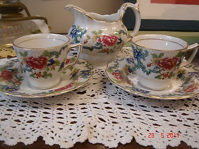 Pretty Vintage China Tea Set With Chinese Influence