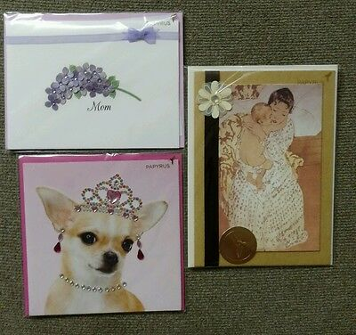 Papyrus Lot Of 3 Mothers Day Cards Mom Value $20.85!!! #W