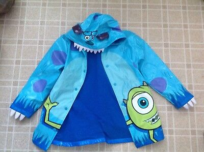 Disney store Monsters Inc James P Sullivan Sully rain coat size 7/8