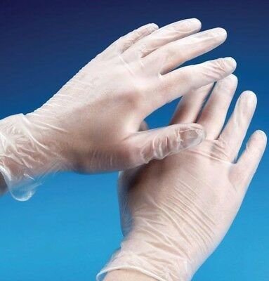 10 x Disposable Vinyl Gloves Size Medium (the best for waxing service)
