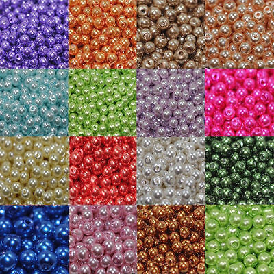Wholesale! Lots 20 Colors Pearl Round Spacer Loose Beads FOR DIY Jewelry Making