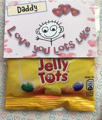 Love You Lots Like Jelly Tots Sweets Personalised Birthday Father's Day