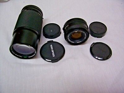 2 - 35mm Camera Lens w/Canon 50mm 1:18 & Tou Five Star 75-200mm! FREE Shipping!
