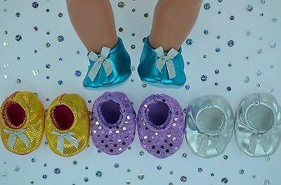 """PlaynWear Doll Clothes 17"""" Baby Born 4x BOOTIES~TURQUOISE~RAINBOW~SILVER~LILAC"""