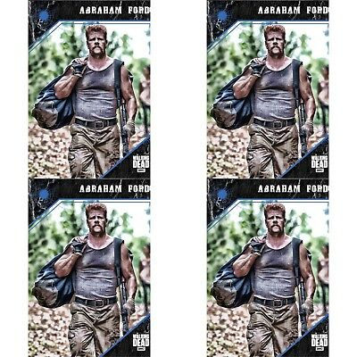 4x 2017 POINT OF IMPACT BLUE ABRAHAM FORD The Walking Dead Trader Digital Card