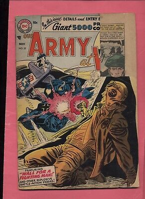 1956 Our Army at War #52 Nice Silver Age