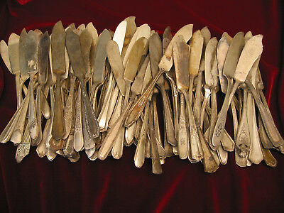 Mixed Lot of 100 Master Butter Spreaders Vintage Craft Silverplate Flatware