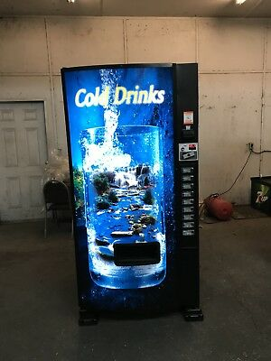 Dixie Narco 501E Vending Machine with custom adjustable 9 drink selection