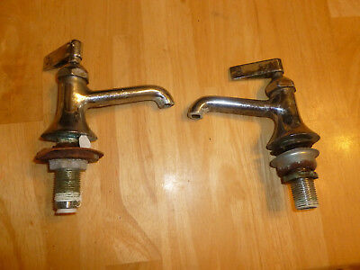 Chrome handle valve Hot & Cold WATER Faucet stem Kohler VINTAGE BATHROOM SINK