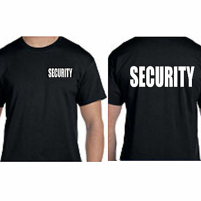 security t-shirt BLACK  double sided print on front and back rothco 6616 S TO 8X