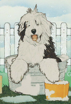 Old English Sheepdog Note Cards
