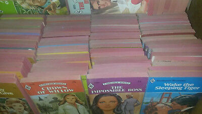 Lot of 10lbs  Vintage Harlequin Romance Red Edge Book