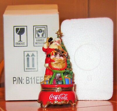 Franklin Mint Coca Cola Figurine Happy Holidays Calls For A Coke