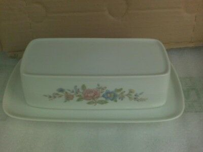 Towne Summer Love Fine China Butter Dish