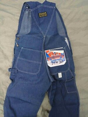 New Vtg Washington Dee Cee Overalls 34 x 32 Made in USA Deadstock 1960s or 70s