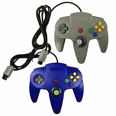 Lot Of 2 N64 Game Gaming Pad Console Controllers For Nintendo 64 N64 Blue