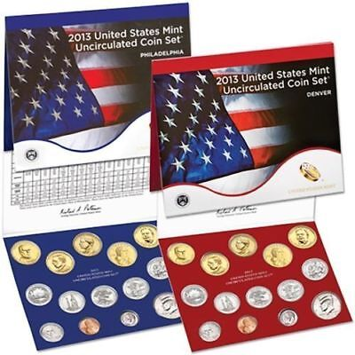 2013 P&D Complete Uncirculated Set of * 28 * Coins US Mint Sealed Box COA U13